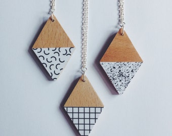 Print Necklaces - 3 designs to choose from