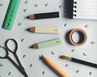 Personalised Initial Pencil Brooch