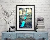 Fine Art Photography on Metallic Paper Playground Swings Photography 8x10 Detroit Photographer Janna Coumoundouros