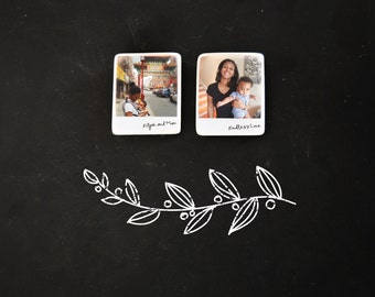 Customized photo portrait Instant Picture tile magnets - group of 2, Mix and Match