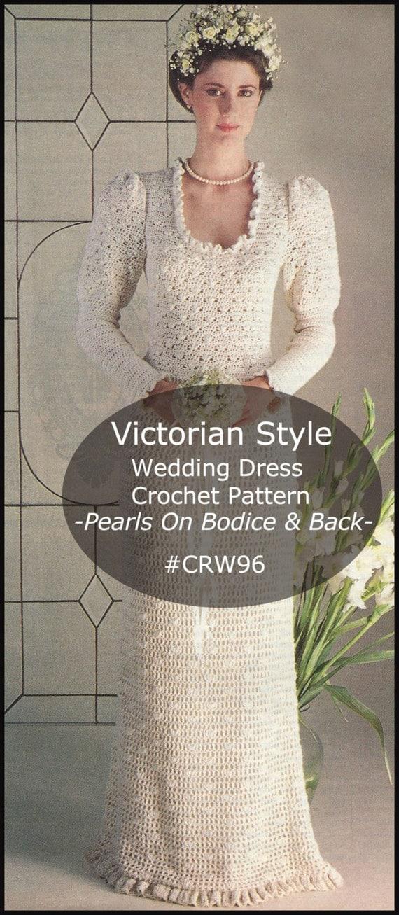 Victorian wedding dress crochet pattern wedding dress for Victorian style wedding dress pattern