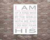 I Am His, The daughter of a King,Girls Christian Nursery Decor,INSTANT DOWNLOAD,Girls Nursery Wall Art,Christian Nursery Decor,Scripture Art