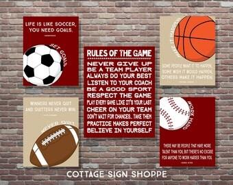 Motivational Sports Quotes, Motivating Sports Set,INSTANT DOWNLOAD,Boys Sports Decor,Sports Playroom Decor,Sports Poster,Famous Sports Quote