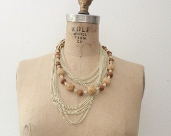 70s chain necklace / bamboo necklace / Texture Study necklace