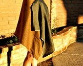 Evening Shawls & Wraps-Wrap Shawl-Wraps Shawls-Blanket Scarf-Women Ponchos-La Vie Style-Two-Toned-Linen Charcoal Caramel 6 X 3 Foot Wrap