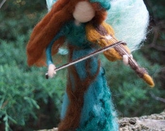Woodland Flower Fairy Playing Violin