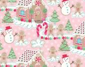 Gingerbread Dream Pink - Sugar Rush Fabric - Blend Fabrics Cotton 1 yard - Cotton Fabric - Christmas Candy Fabric - Pink Christmas Fabric