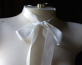 "3 YARDS Cream Satin Ribbon 7/8"" wide Double Face made in Japan for Bridal, Millinery, Floral or Costume Design"