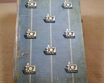 Joy of Cooking Rombauer & Becker 1951 Edition Classic Collectible Cookbook, Vintage Kitchen Display, Mid Century Must Have