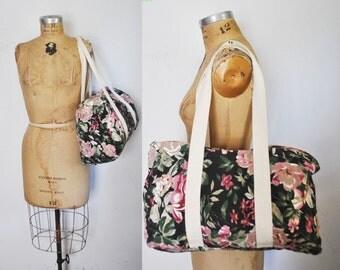 Floral Travel Bag / duffle weekender