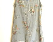 robin egg blue floral romantic dress for makeover small