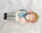 Handmade Polymer Clay Obstetrician Christmas Ornament - OB/GYN Christmas Gift - Obstetrics Nurse Ornament - Baby Doctor Gift - 91519