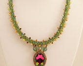 Springtime Dragon Necklace Tutorial and Kit for Intermediate Beadweavers