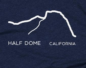 Half Dome, Yosemite - Mountain Range- Men's and Women's T-shirt, California