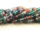 Multicolor Rondelle Sampler Gemstone Faceted Beads, Confetti Mixture WHOLESALE Beads, SemiPrecious Gems  45 pcs, 3-3.5mm