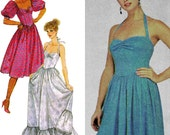 Totally Eighties Princess Prom Dress! Vintage ©1983 McCall's Sewing Pattern 7981, Misses' Dress Size 14, Uncut with Factory Folds