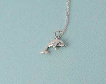 Dolphin necklace / Sterling silver dolphin necklace
