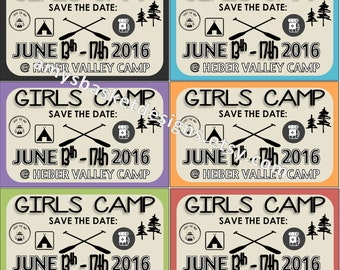 LDS Young Women Camp Save The Date Cards