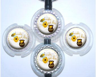 Stethoscope Id Tag - Bee Calm Hive Got This Honey Stethoscope Tag (A351)