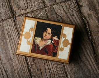 Vintage Music Jewelry Box Wood Dr Zhivago Music Gold Paint and Print Of Painting From Nowvintage on Etsy