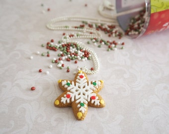SnowFlake (Gingerbread Cookie) Necklace