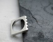 Minicyn studded Maison square solid silver ring