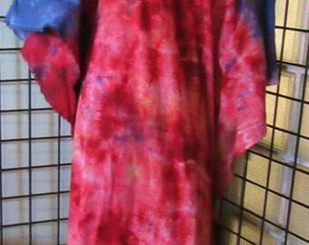 Rose Bloom beautiful womens  cotton hand dyed caftan dress with cold shoulder Plus One Size