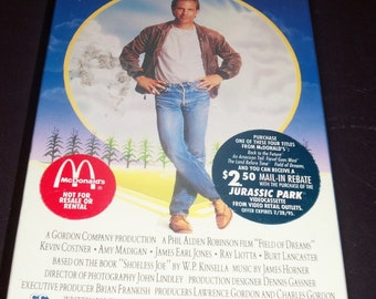 Free Ship - McDonalds Promo VHS Field Of Dreams