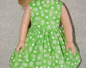 "Dress for 14"" Wellie Wishers or Melissa & Doug Doll Clothes green flowers tkct978"