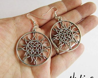 NEW Round Celtic Sunshine Earrings (ERSP3)