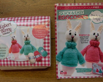 2013 knitting pattern kit EGG COSIES bunnies