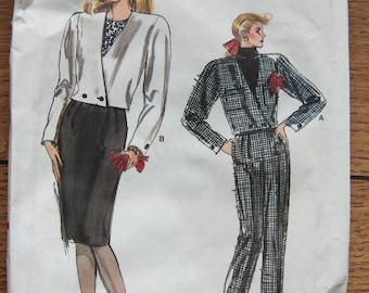 1988 Vogue sewing pattern 7106 Misses Jacket Pants Skirt sz 6-8-10 Uncut