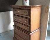 Dollhouse Bedroom Bureau. Five Drawers. Miniature German Mug #240