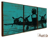 Custom Airplane Print - Airplane Wall Art in Custom Colors - Gift for Him - Gift for Dad 12x36