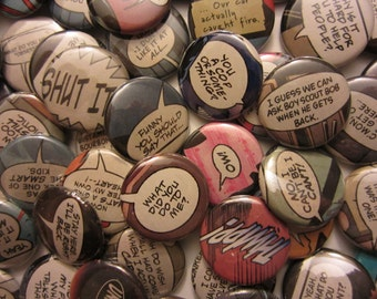 Comic Book Quotes: Bad Words & Grawlixes (Pinback or Magnets)