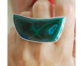 SOLD Dollybird Emerald Lagoon Ring