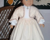 1800s 1870s Anne of Green Gables 3 Pc Walking Suit Skirt Jacket Blouse for American Girl 18 inch Doll
