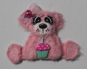 Happy 1st Birthday Pink tear bear paper piecing, embellishment for scrap booking, card making and other craft projects
