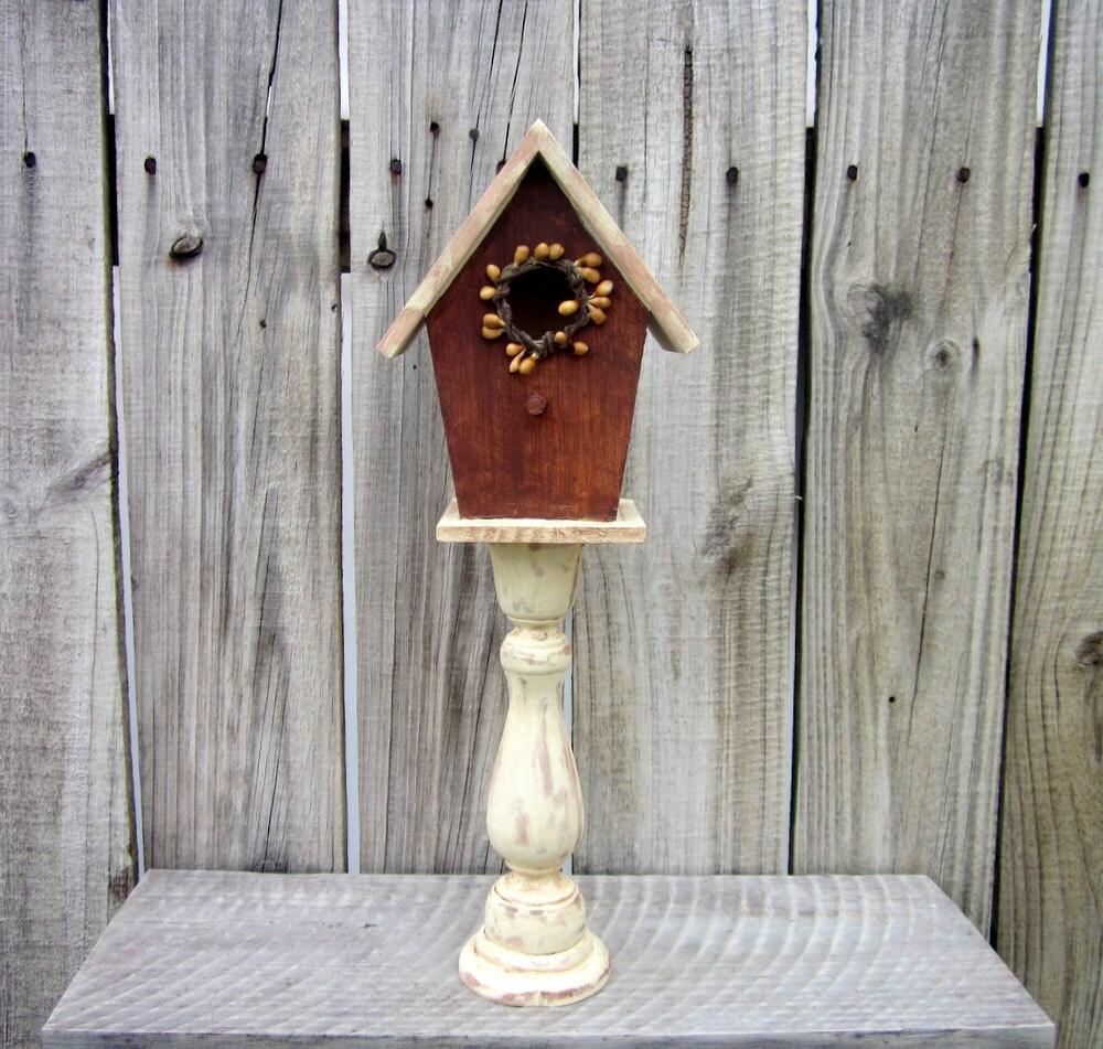 birdhouse pedestal decorative indoor birdhouse pip. Black Bedroom Furniture Sets. Home Design Ideas