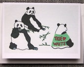 Celibate Pandas Embroidery Greeting Card