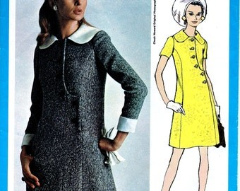Chuck Howard  Designer Pattern *  Vogue Americana  Pattern 2171  * Misses' Asymmetrical A-line Dress for Day or Evening  * Size 10