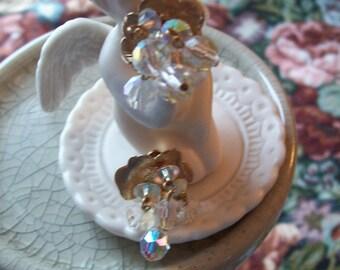 Vintage Lewis Segal Rhinestone Clip Earrings