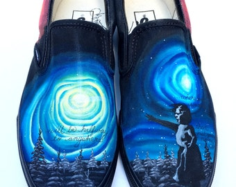 Custom Vans Shoes - Galaxy Supernova Hand Painted