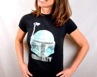 Vintage Boba Fett Iron On Empire Strike Back 70s 80s Star Wars Tee Shirt Tshirt