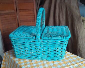 Basket Cottage Market Basket in Happy Blue
