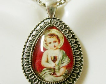 Christ child pendant with chain - AP15-010
