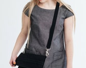 foldover bag, cross body bag, black