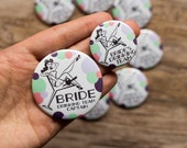 Bachelorette Party Pins, Bride's Drinking Team, Bride Button, Pin Up Girl Buttons, Retro Cocktail, Last Fling, Hens Night Badges