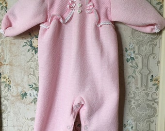 Vintage Carter's pink sleeper 9m