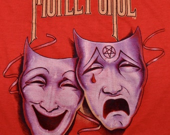 Vintage 80s 1985 1986 MOTLEY CRUE Theatre of Pain Rock Concert Tour T SHIRT M L